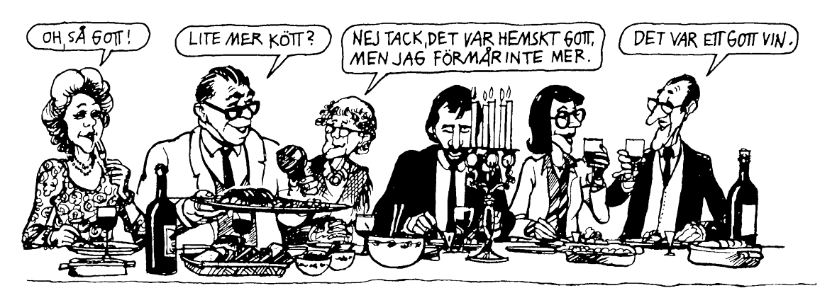 Ur Nybörjarsvenska. Teckning av Sven Nordqvist.