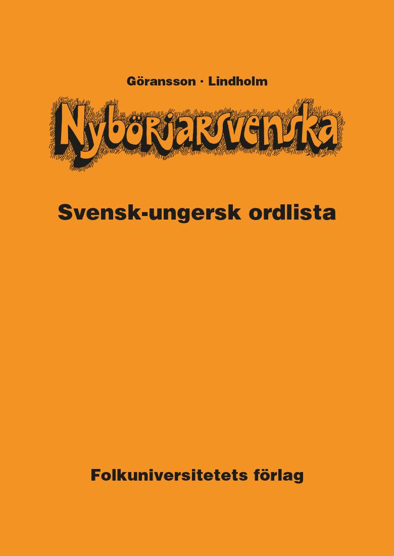 Nybörjarsvenska svensk-ungersk ordlista